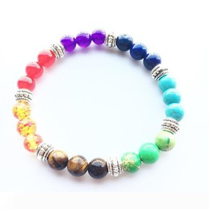 New Hotsale 7 Colors 8mm Natural Stone Beads Bracelets For Women Men Lava Healing Balance Bracelet Yoga Jewelry