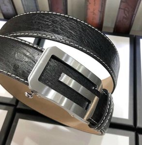 yangzizhi7 Automatic single G buckle classic black leather belt Mens Belts For Men Women Belt With Box