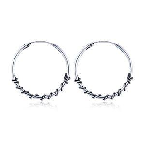 1pair Gypsy Tribal Ethnic Big Hoop Earrings For Women Circle Earring Hoops Fashion Earing Aretes Bijoux Jewelry Gift E42