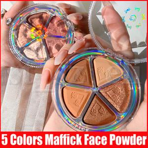 Maquillage Maffick visage yeux Maquiagem fard à joues et Shimmer Matte Poudre Pressée blush Palette Nature fard à paupières Bronzer surligneurs 5 couleurs