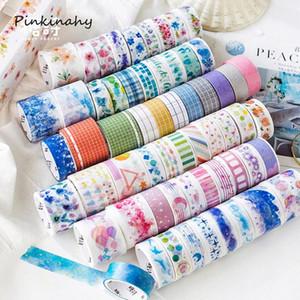 10 Rolls azul cielo estrellado Lovely Girl decorativo Washi Tape Set DIY Scrapbooking adhesivas de enmascaramiento Craft cinta Escuela de papelería 2016 HP3b #