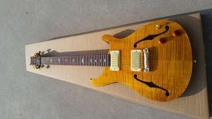 Yeni varış içi boş gövde elektro gitar, çin özel dükkanı EMS ücretsiz gönderim 22 özel gitar her türlü yapılmış olabilir üzülmek yapılan