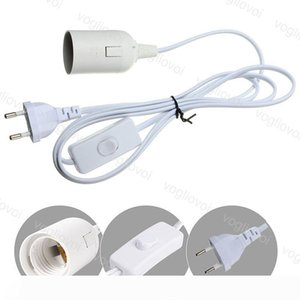 Power Cord Cable 1.8M E27 Lamp Bases Round EU Plug With Switch Wire For Indoor Bulb Holder Lamp Hanging Light Socket DHL