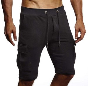 Brand New Workout Shorts Men Fashion Solid Knee Length Short Pants Casual Pockets Hip Hop Streetwear Mens Shorts
