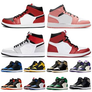 nike air retro jordan 1 1s jumpman Scarpe da pallacanestro da uomo di vendita calda Chicago New Love Yellow Court Purple da donna Mid Gym Red Obsidian Fearless sneakers