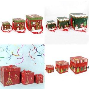 Noël Décore Coffret cadeau papier cadeaux de qualité Arbre Opp Paquet Boîtes d'emballage de haute qualité avec divers modèle 12 8PJ J1