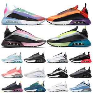 2090 Magma Naranja ser verdad de los zapatos corrientes de antracita Verde Rosa Aurora Pure Platinum espuma voltios Triple Negro Hombres Mujeres Trainer zapatilla de deporte