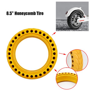 2PCS borracha Pneus inteiros para Mijia M365 8,5 polegadas Scooter elétrico Honeycomb Absorber Damping Tire