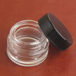 Food Grade Non-Stick Dab Glasgläser Wax Dabber Container 5ml Gläser trocken tupfen Kräuterkonzentrat Container Glasflasche