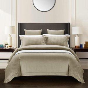 30Queen tamanho king size 100% Real tingida Jacquard Duvet Cover Set Folha de cama de algodão egípcio cama Set Azul Navy Grey Luxo