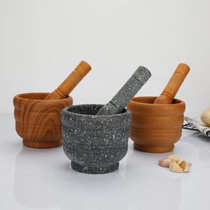 Grinder Stampfe Walzwerk Handbuch Knoblauchbreis Pounder Abraser Steinmörtel Pfeffer Spice Kitchen Tools heißer Verkaufs-4 8TQ C2