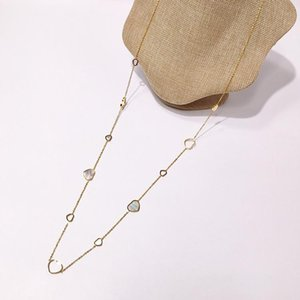 2020 titanium steel sweater chain 18K gold rose silver long necklace suitable for fashion women's gift come whit dust bag