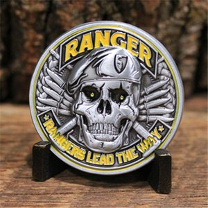 CHALLENGE عملة RANGER RANGERS LEAD THE WAY OF THE ARMY قسم جمجمة بيريه