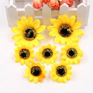 Marchwind 5Pcs lot Handmade Artificial Flowers Silk Daisy Sunflower for DIY Wreath Scrapbooking Wedding Home Decoration Craft Fake Flowers