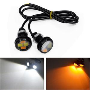 2020 Nouvelle 12V 10W 23MM LED Eagle Eye lampe arrière moto et en voiture Intérieur Porte lumière Phares antibrouillard Jour lumières décoratives DHL Livraison gratuite
