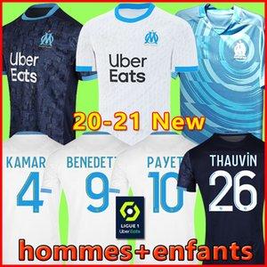 TOP 20 21 Olympique De Marseille soccer jersey football shirt Fußball-Trikot OM Trikots 2020 2021 Fußball-Fußbekleidung PAYET GUSTAVO THAUVIN Trikot Fußball Männer Kinder 120 Jahre