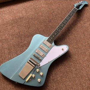 Custom wholesale high-quality master-level sound with long version, ebony fingerboard, 6 blue guitar guitars, providing customized services