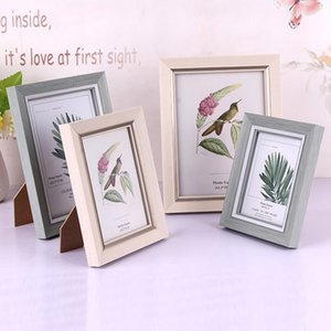 Retângulo de madeira Pictures Frames Desk Decor Tabela Photo Frame Family Wedding Photo Frames alta-Grade Art Home Decor presente Ornamentos