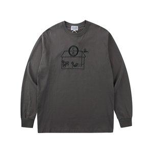 T-shirt brodé tee japonais hommes mode ronde veste de femmes de cou t-shirt