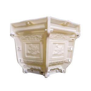 38cm /14.96in ABS Interlock Hexagonal Durable Accueil Jardinage Bonsai Bricolage Lotos Fleur embosser Béton / Ciment Moule Pot de fleurs Y200709