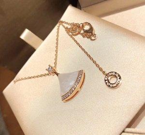 Lady Necklace lady jewelry luxury lady 925 silver fan pendant female Necklace elegant workmanship exquisite Necklace
