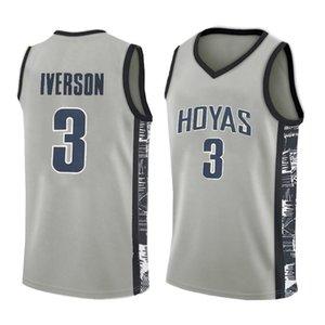 Jerseys High School de basquete Allen Iverson 3 NCAA Jerseys Georgetown Bethel University High School de LeBron James 23 Irish