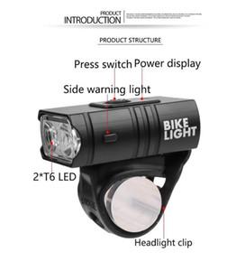 DishyKooker 2 T6 LED Bicicleta iluminação intensa USB recarregável Bike Light para exterior