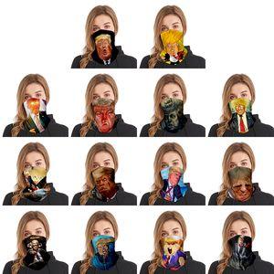 14 Stil sızmasına 2020 Trump Desen Türban Spor Outdoor Çok fonksiyonlu Kullan Magic Türban Maske DWA206 Malzemeleri