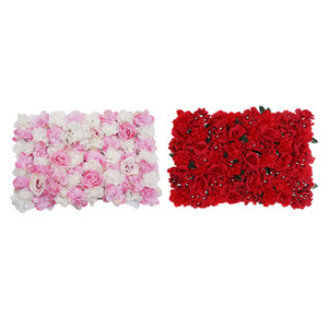 Artificial Flower Plants Panels Background Wall Wedding Decor Hot Pink & Red