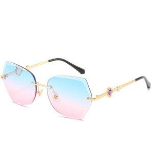 Trimmed Rimless Sunglasses Xinfeimeng Fashion Rimless Oversized Cutting Lens Sunglasses Women Brand Trimmed Sun Glasses Female beidiensport