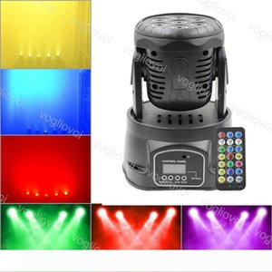 Moving Head Lights 7X10W RGBW LED Mini Beam Spot Wash Stage Lighting Mixing DMX512 Control Disco DJ Christmas Party Effect DHL