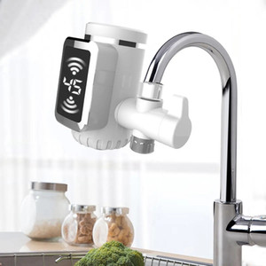 3000W Free-installation Electric Water Heaters Kitchen Cool Hot Water Faucet LED Water Heater Rotatable With Temp Display