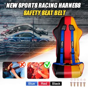 RASTP-Universal 2 inch 4 Point Racing Seat Belt Safety Harness Red Blue Black Sports Racing Harness Seat Belt -BAG032-TP
