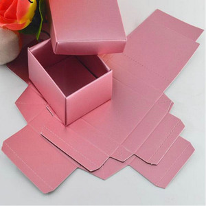 20PCS LOT Rose Gold Color Gift Cardboard Box with lid, Small Wedding Candy Chocolates Packing Boxes Jewel Box