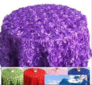 rotonda Table Cover panno di tabella per le tabelle banchetto di nozze della decorazione del partito del tessuto del raso Tabella Abbigliamento nozze Tovaglia Home Textile WT027
