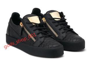 Giuseppe Zanotti shoes 2020 scarpe Nuovo caldo Mens Sneakers progettista taglio basso Spikes appartamenti xshfbcl Per le scarpe in pelle donne degli uomini