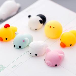 Kawaii Mini Toys Images animaux Évacuation Boule Squishy Cadeaux Enfant Pincez loin Troubles Party Favor PVC souple 0 45yx D2