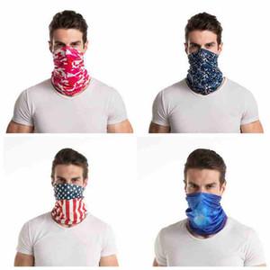 14 Styles Fashion Bandana Camo Face Mask Outdoor Sports Headband Turban Headscarf Magic Scarves Cycling Face Masks CYZ2550