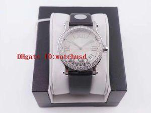 Las mujeres del acero YF fábrica Happy Sport Diamond Bisel Relojes mujer Relojes de acero zafiro resistente al agua Fecha de visualización mecánico automático suizo