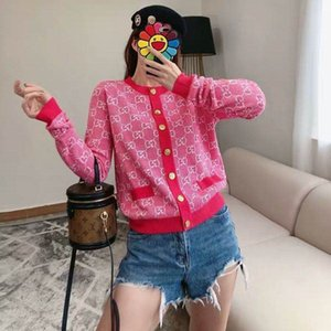 2020 autumn new woolen sweater cardigan cool popular logo double g jacquard trim long sleeve cardigan jacket g versatile