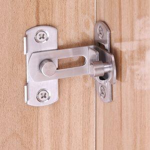 90-Grad-Stall-Tür-Verschluss Edelstahl gebürstet rechtwinklig Schiebetür Mini Latch Schnalle Schmetterling Typ Durable Bolzen