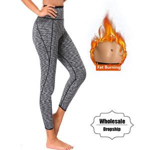 NINGMI Sıcak Pantolon Kadınlar Sauna Neopren Kısa Legging Kontrol Külot Vücut Şekillendirici Bel Trainer Zayıflama Pantolon Y200710 Sweat ısınma tutun