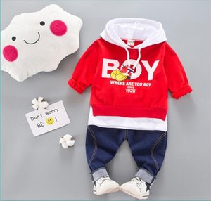 Spring Autumn Kids Clothes Sets Baby Boy Cotton Sports Hooded T Shirt Sweater Shirt Pants Sets Children Boys Kids Casual Suits
