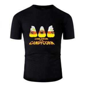 Candycorn 트릭의 클래식 개인화 할로윈 어린이 또는 취급 티셔츠 남성 티셔츠 유머 느슨한 옷