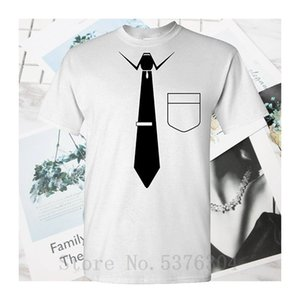 Necktie - Mens T-Shirt Youth Round Collar Summer T-Shirts Top Tee Plus Size T Shirt Mens Print Customized 100% Cotton