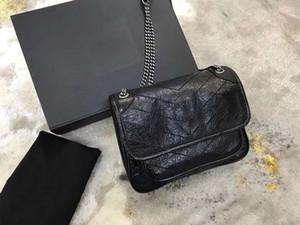 2020 الموضة الجديدة واحدة الكتف رسول حقيبة جلد ناعم ساعي البريد حقيبة Lingge سلسلة حقيبة المرأة
