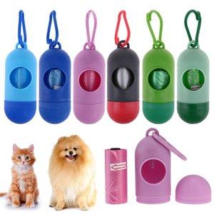 Sevimli Hayvan Kanca Mini Köpek Poop Çanta Kutuları ile Köpek Poop Çanta Scoop Tasma Dispenser besler