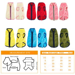 XS-XL Winter Dog Clothe High Collar Dogs Costume Zipper Dog Vest Jackets Soft Warm Pet Clothes Coat Puppy Apparel Pet Clothing DBC VT1207