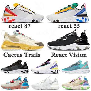 Offerta speciale Script Reagire Element 55 87 Running Shoes Sail SE Tour Triple Black White Reale Tint scarpe da ginnastica da uomo Scarpe da ginnastica di sport
