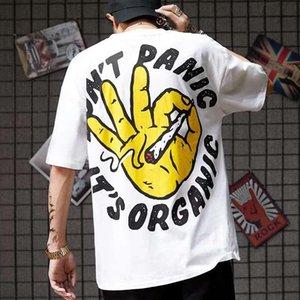 Januarysnow Japan Kühle Hip Hop-T-Shirts Lustiges Grafik-T-Shirt Cartoon-T-Shirt Street Sommer Tees High Street Halbarm-T-Shirts